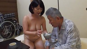 Creampie with an old defy for this fine Japanese grown-up